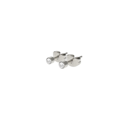 Kalli studs steentje crystal 1 mm zilver.
