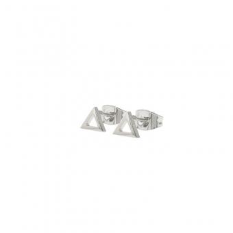 Kalli studs open driehoek zilver.