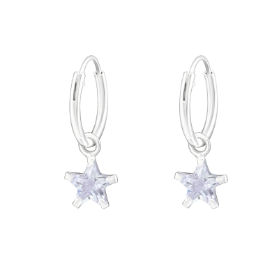 Hoops 12 mm crystal star.