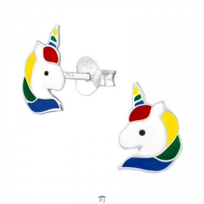 Oorknopjes unicorn hoofdje.