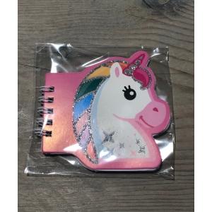 Notitieboekje Unicorn roze.