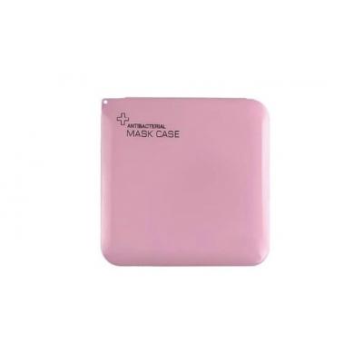 Opbergdoosje voor mondkapje roze.