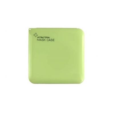 Opbergdoosje voor mondkapje groen.