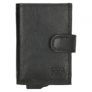 Double D creditcardhouder zwart.