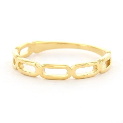KalliKalli ring schakel goud.