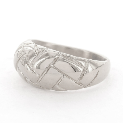 KalliKalli ring breed 2 zilver.