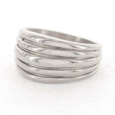 KalliKalli ring breed 3 zilver.