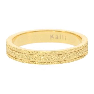 KalliKalli pink ring glitter goud.