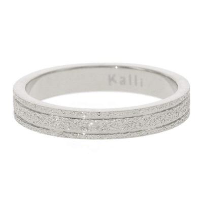 KalliKalli pink ring glitter zilver.