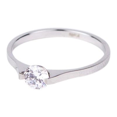 KalliKalli pink ring met steentje zilver.