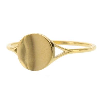 KalliKalli pink ring rond goud.