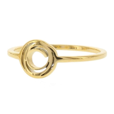 KalliKalli pink ring open rondje goud.