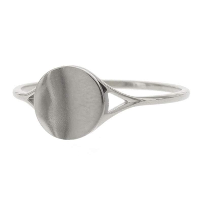 KalliKalli pink ring rond zilver.