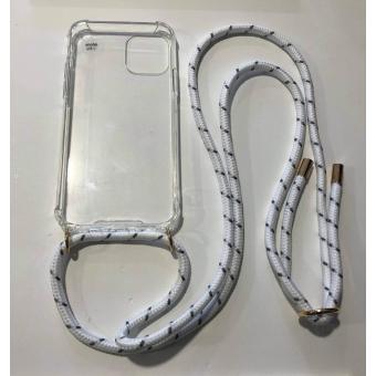 Telefoonhoesje met koord IPhone 11 Pro wit.