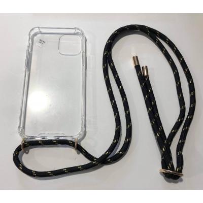 Telefoonhoesje met koord IPhone 11 Pro zwart/goud.