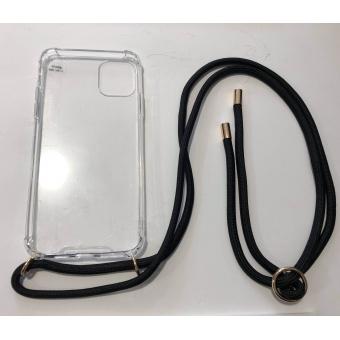 Telefoonhoesje met koord IPhone 11 Pro Max zwart.