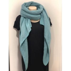 Sjaal met punt blauw.