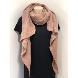 Sjaal met punt roze.