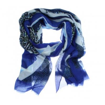 Sjaal Ciara blauw.