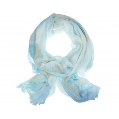 Sjaal Impiana blauw.