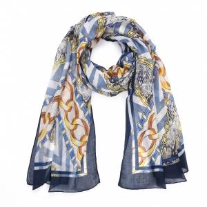 Sjaal fantasie 1 blauw.