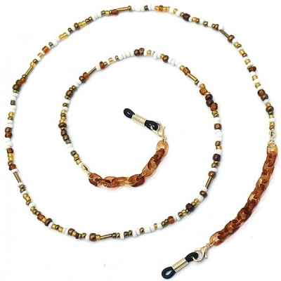 Zonnebril koord beads.