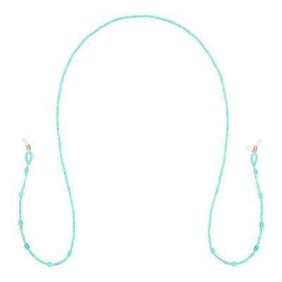 Zonnebril koord turquoise.