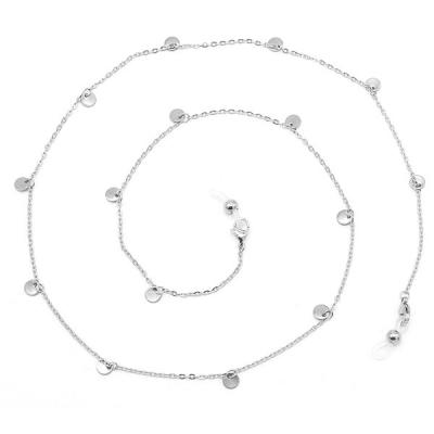 Zonnebril koord stainless steel coins.