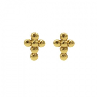 Karma studs dots faith goud.