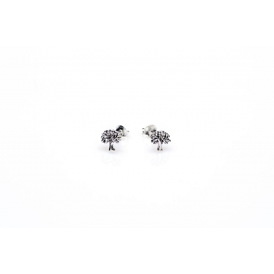 Karma studs tree of life zilver.